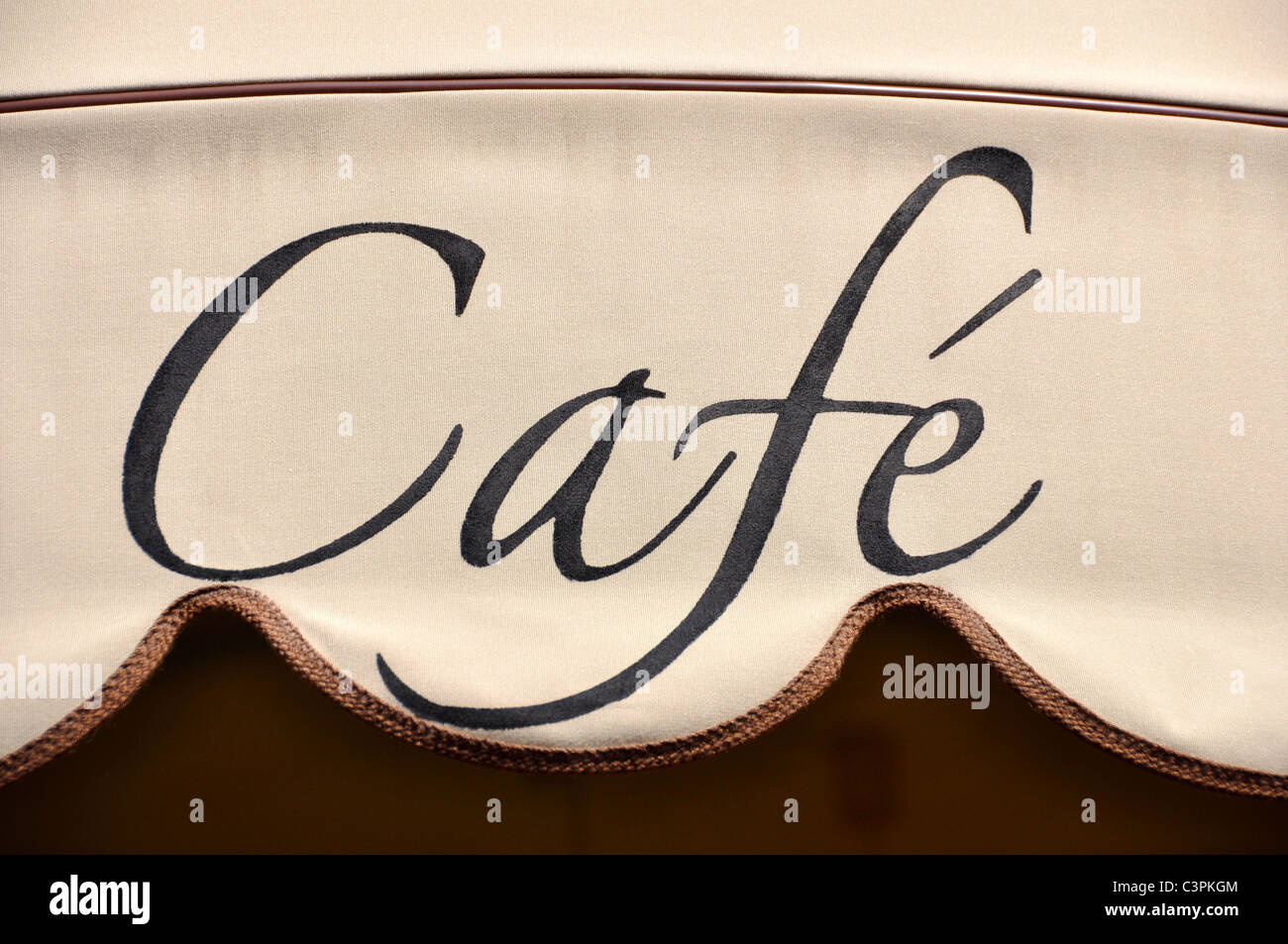Café awning in Italy - Stock Image