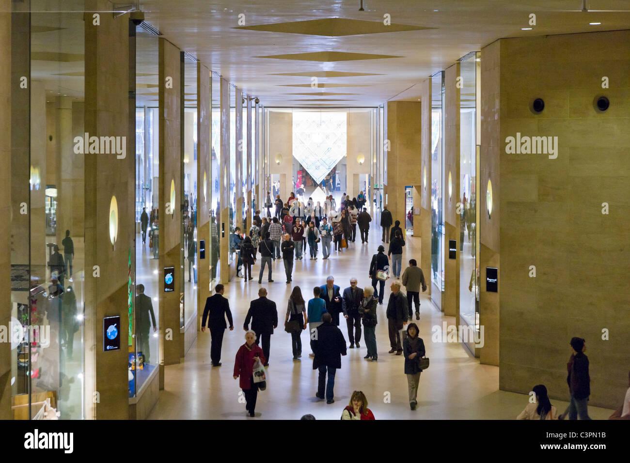 The Carrousel du Louvre shopping centre, Paris, France - Stock Image
