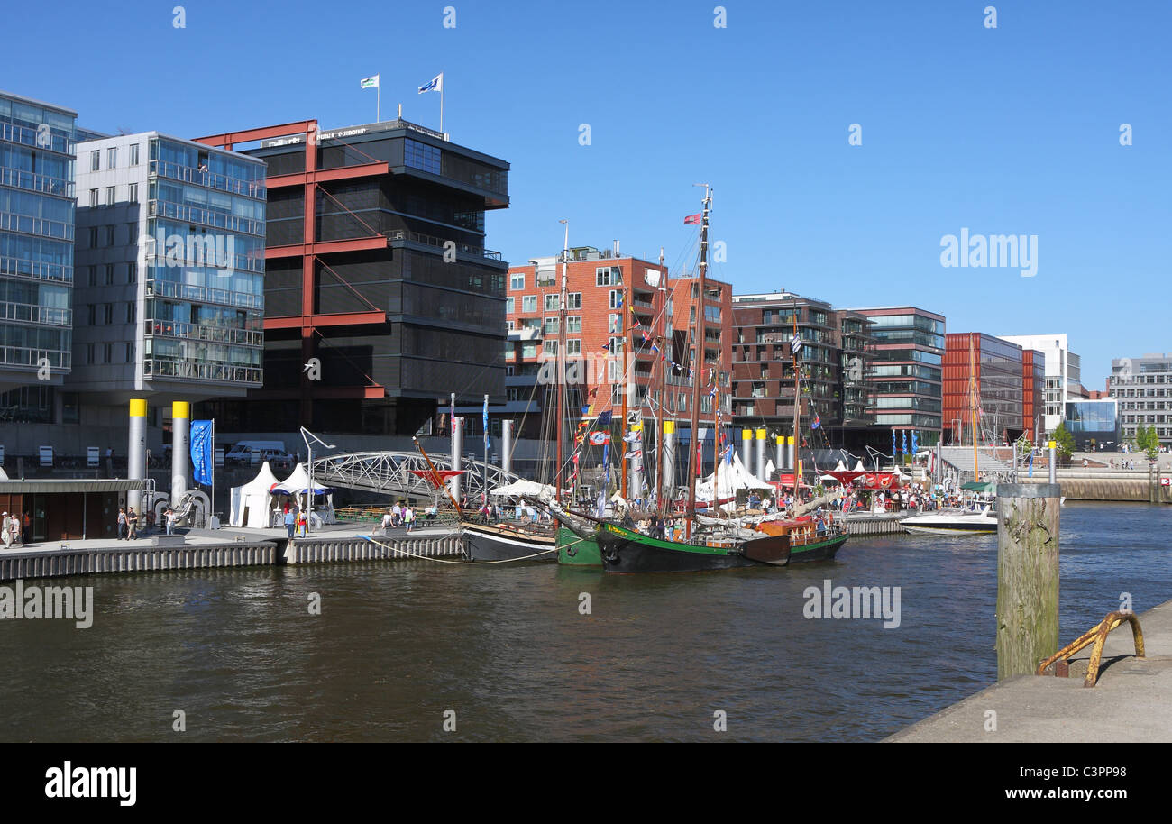 HafenCity (harbour city) in Hamburg, Germany, Europe - Stock Image