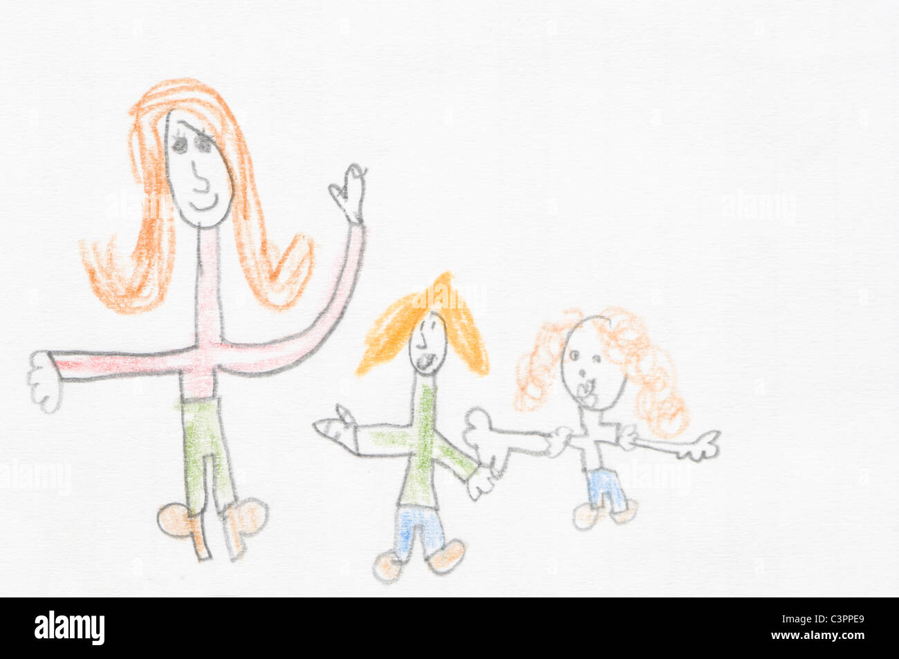 Germany, Munich, Child's drawing in exercise book - Stock Image