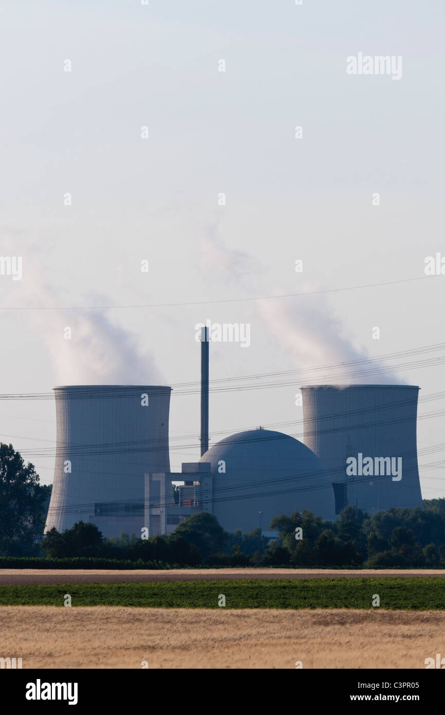 Germany, Nuclear power plant - Stock Image