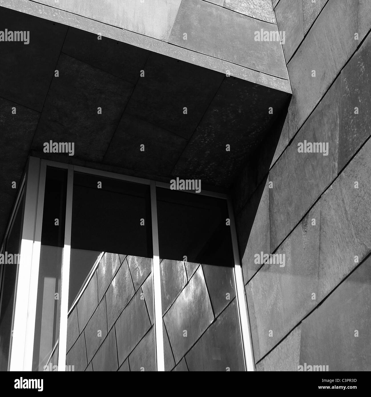 Canadian Cities, Architectural Details, The Art Gallery of Alberta, Edmonton Alberta Canada. - Stock Image