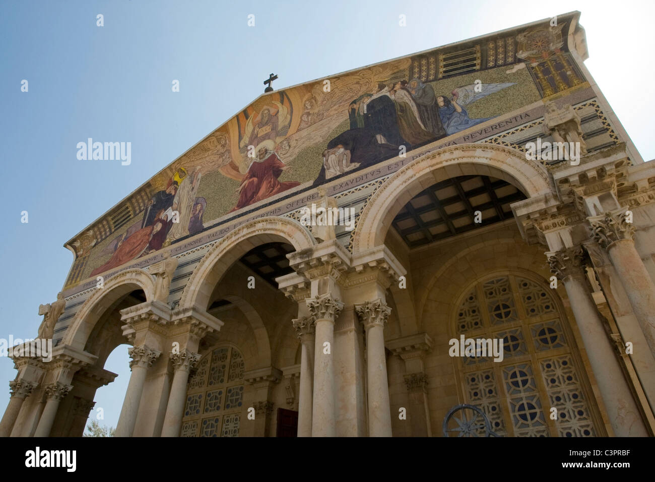 The Church of All Nations is a Roman Catholic church located on the Mount of Olives in Jerusalem. - Stock Image