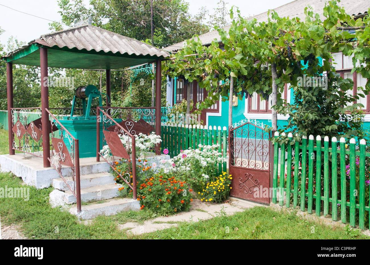 Typical moldovan house - Stock Image