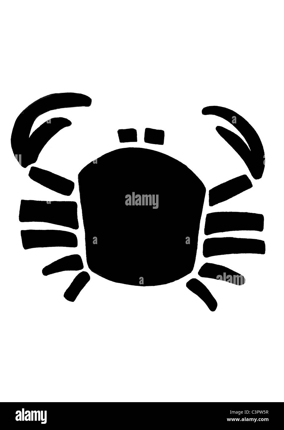 Cancer Zodiac Sign Black And White Stock Photos Images Alamy