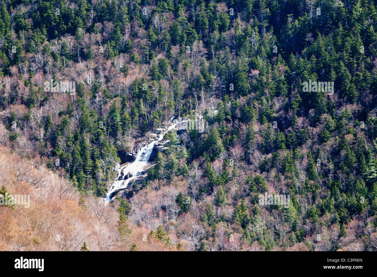 Crawford Notch State Park - Silver Cascade n the White Mountains, New Hampshire USA Stock Photo
