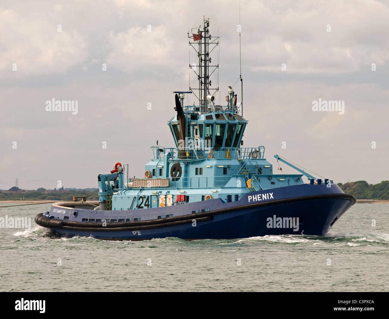 Tug Phenix based at Southampton port Hampshire England UK - Stock Image