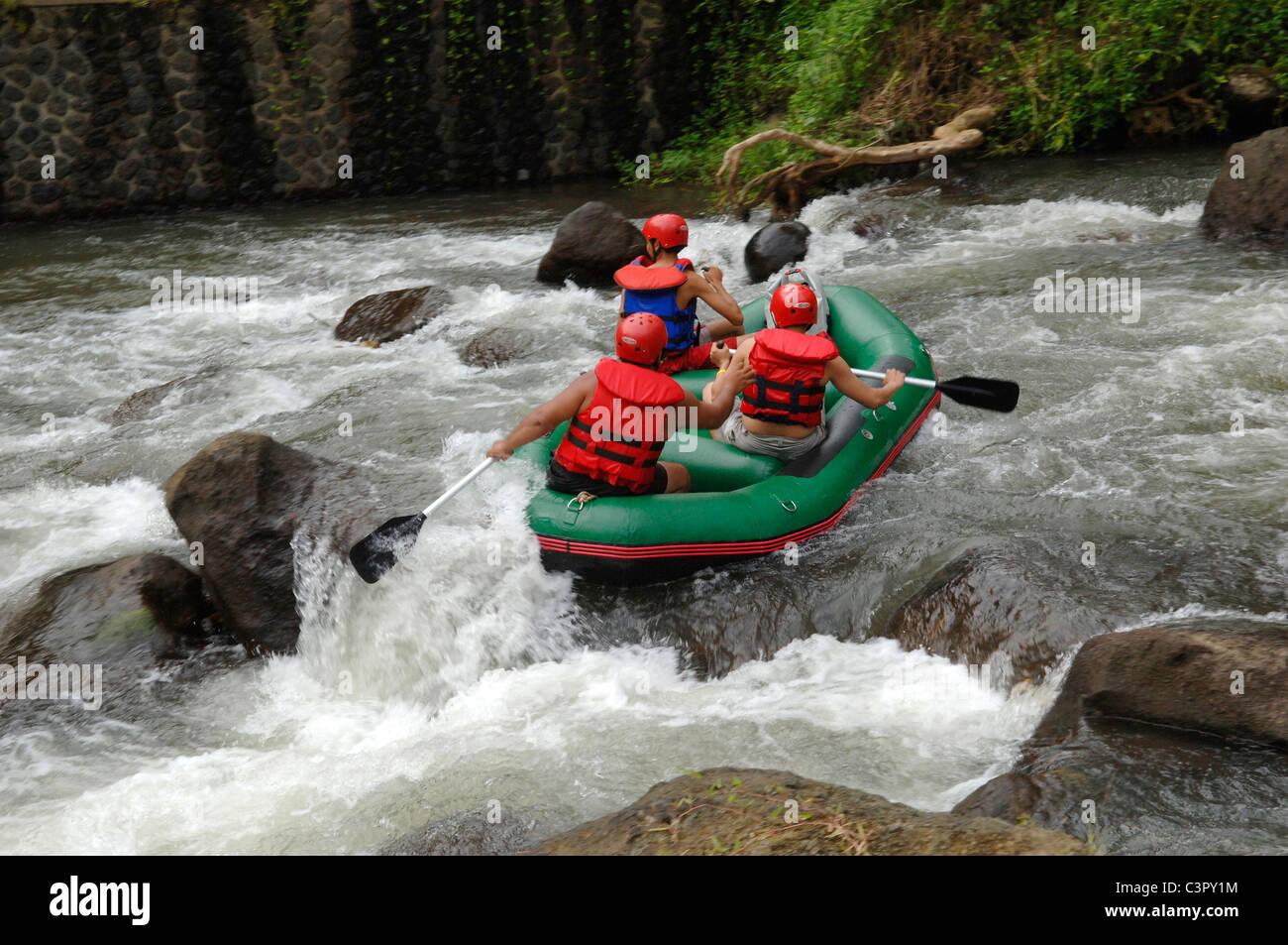 White Water Rafting Ayung River Gorge Ubud Bali Indonesia Stock Photo Alamy
