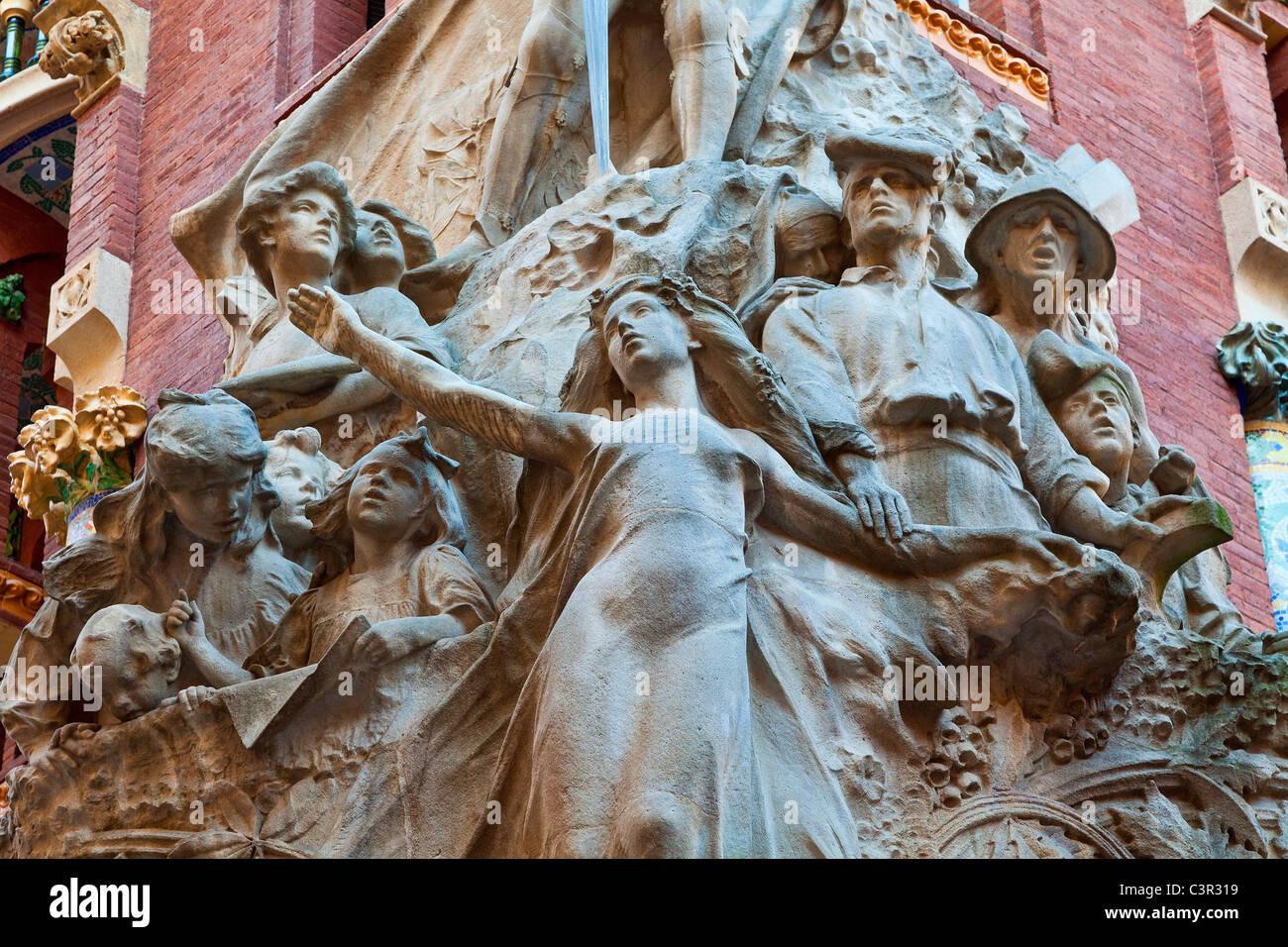 Barcelona, Palau de la Musica - Stock Image