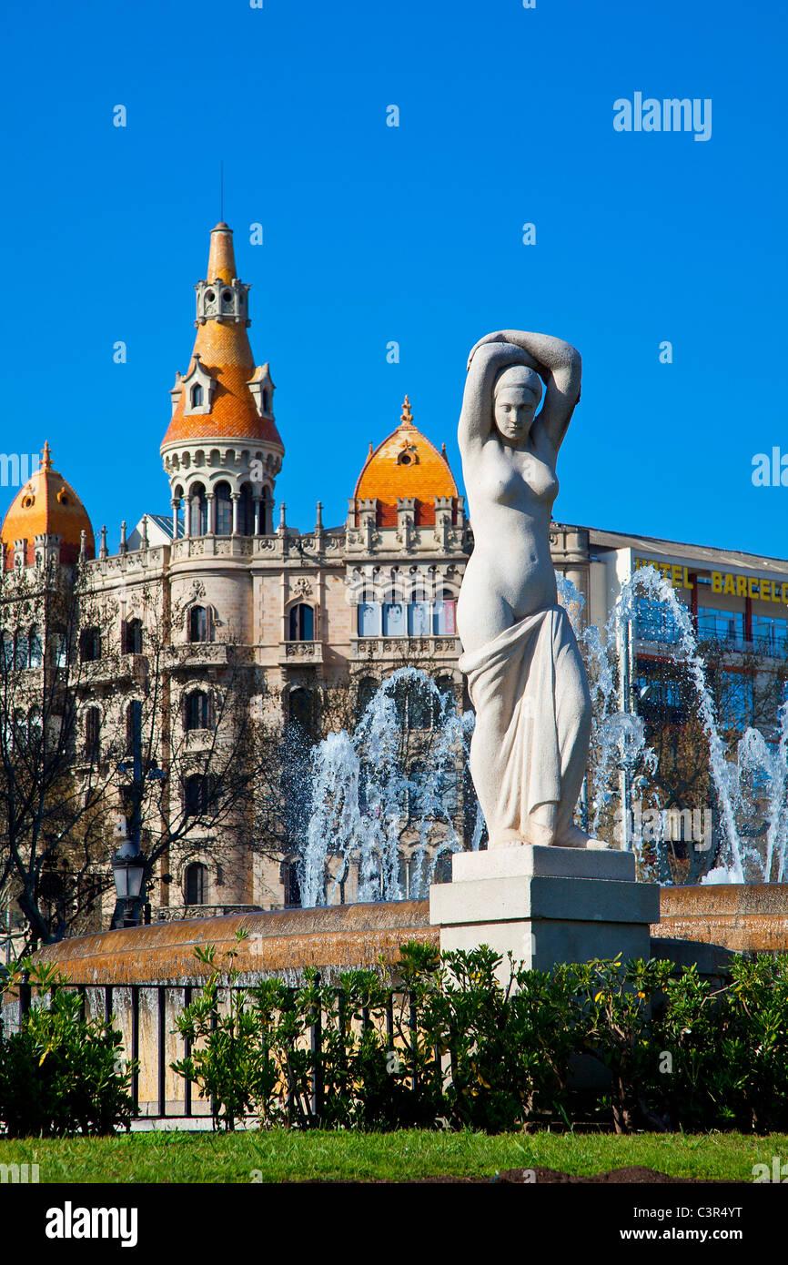 Barcelona, Placa de Catalunya - Stock Image