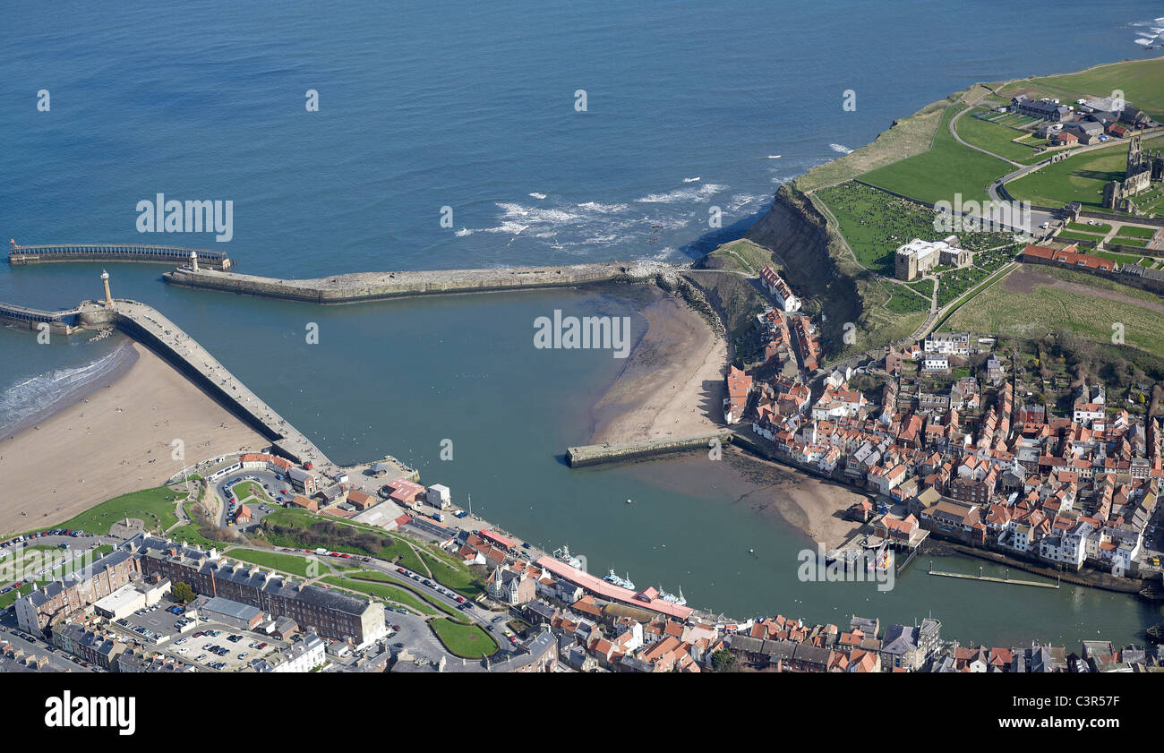 England North Yorkshire Whitby Harbour Stock Photos ...