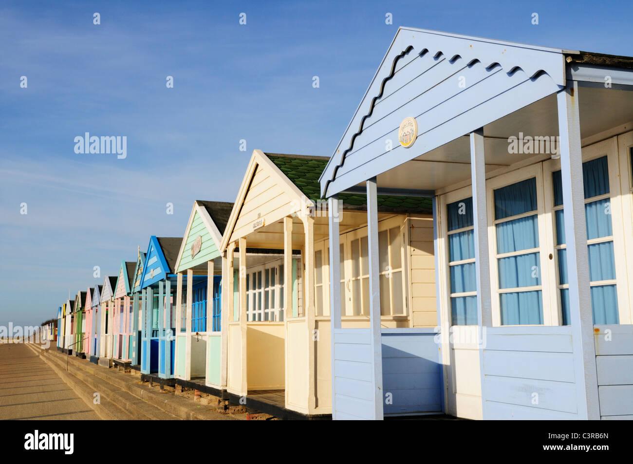 Beach Huts at Southwold, Suffolk, England, UK - Stock Image