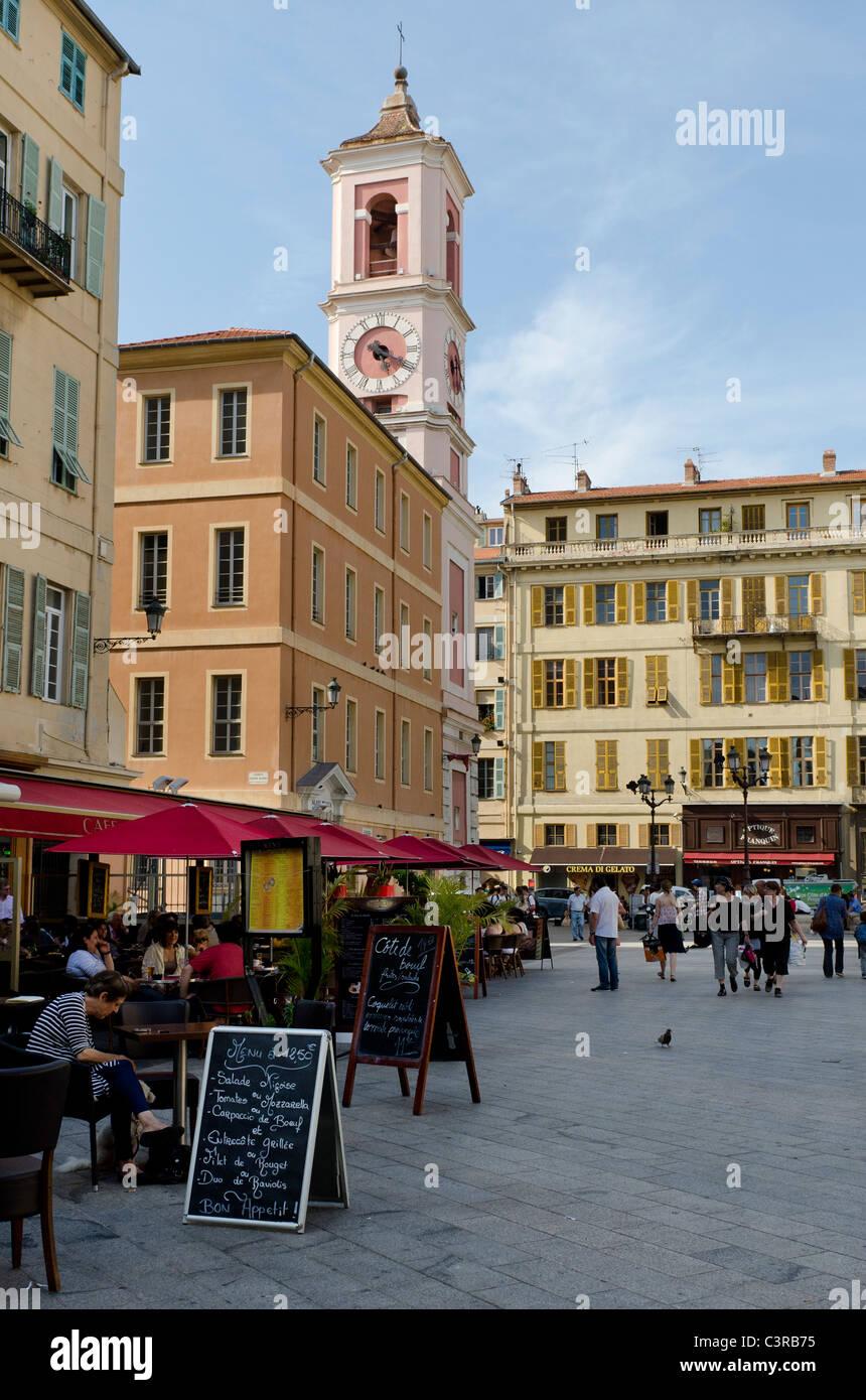 Place du Palais-de-Justice, Nice, France - Stock Image