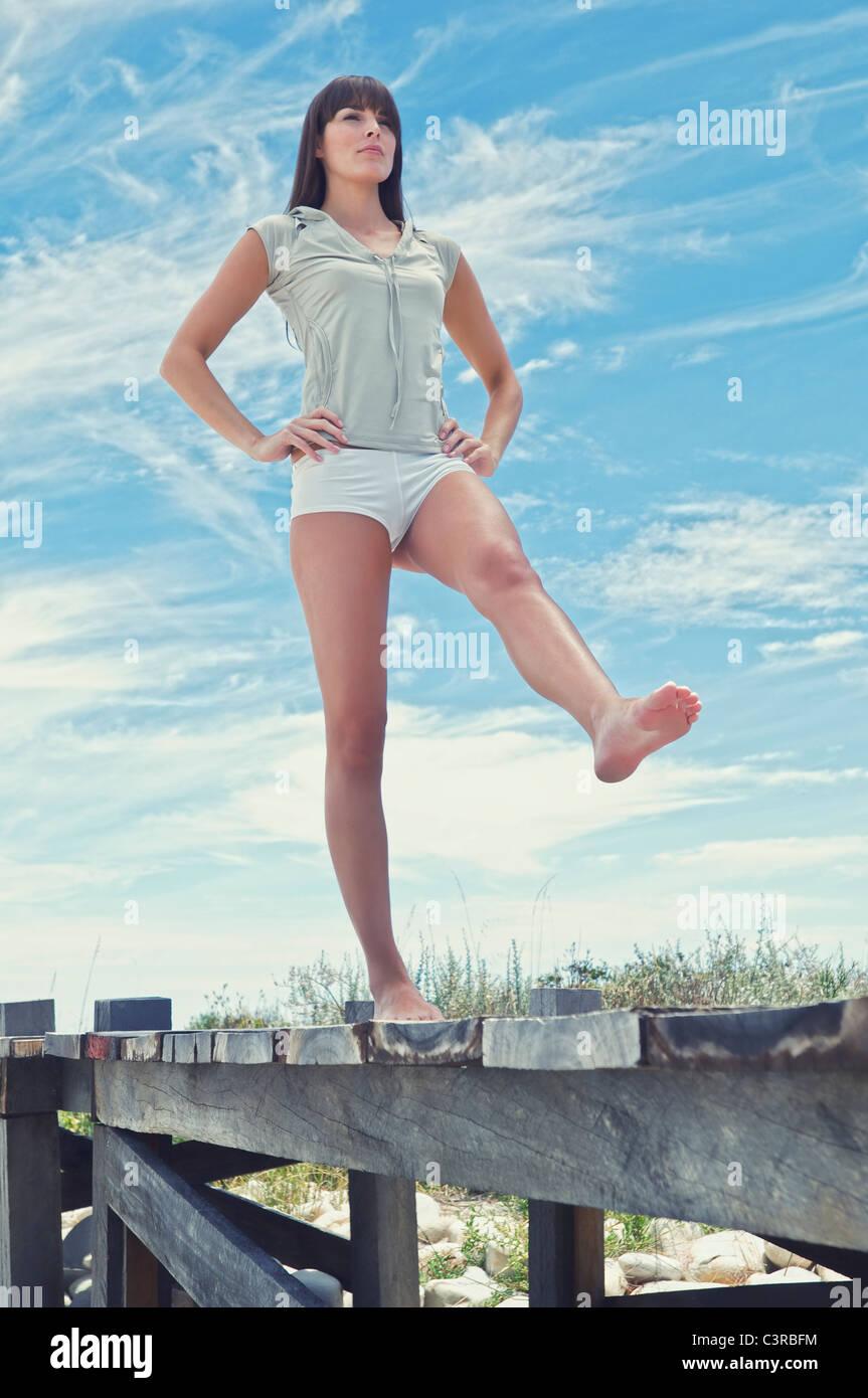 Woman doing Yoga Pose - Stock Image