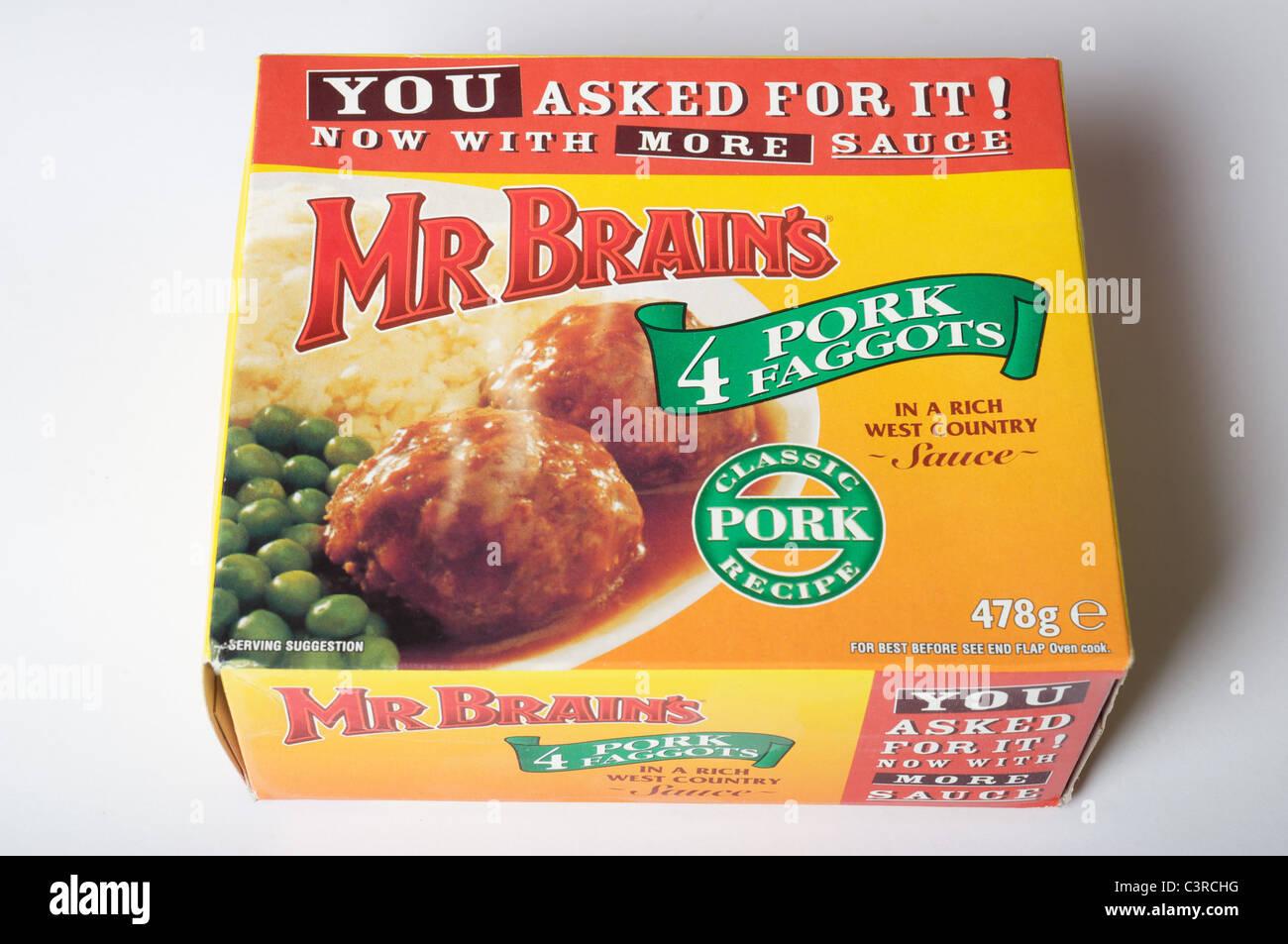 Mr Brains pork faggots - Stock Image