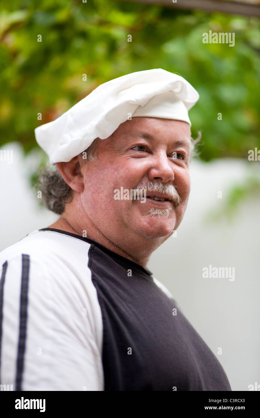 Chef smiling - Stock Image