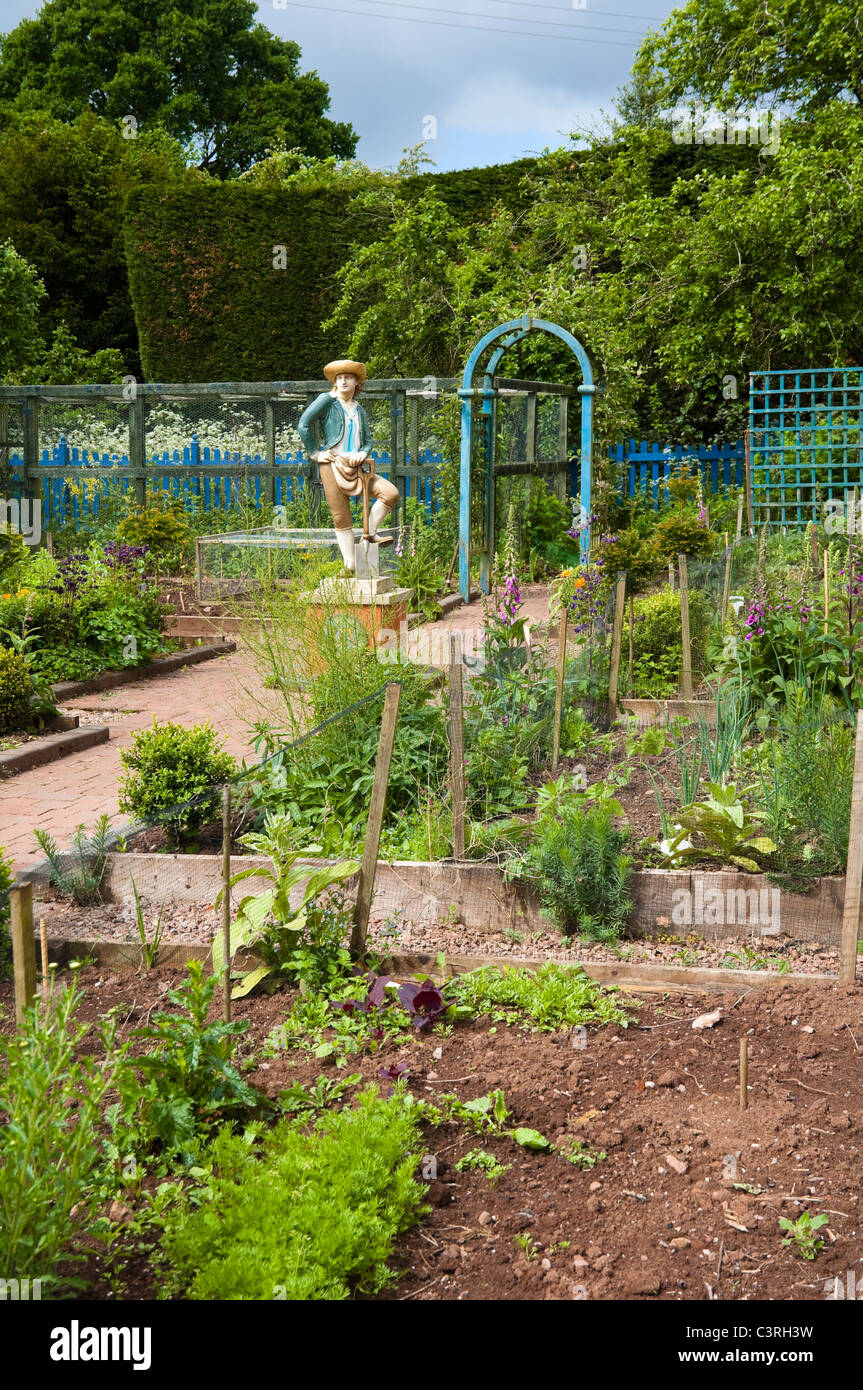 The Laskett Garden, Herefordshire - The Kitchen Garden - Stock Image