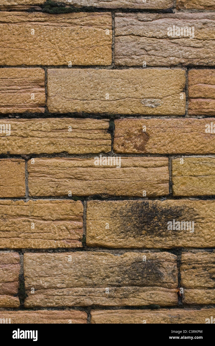 old brick wall with soot - Stock Image