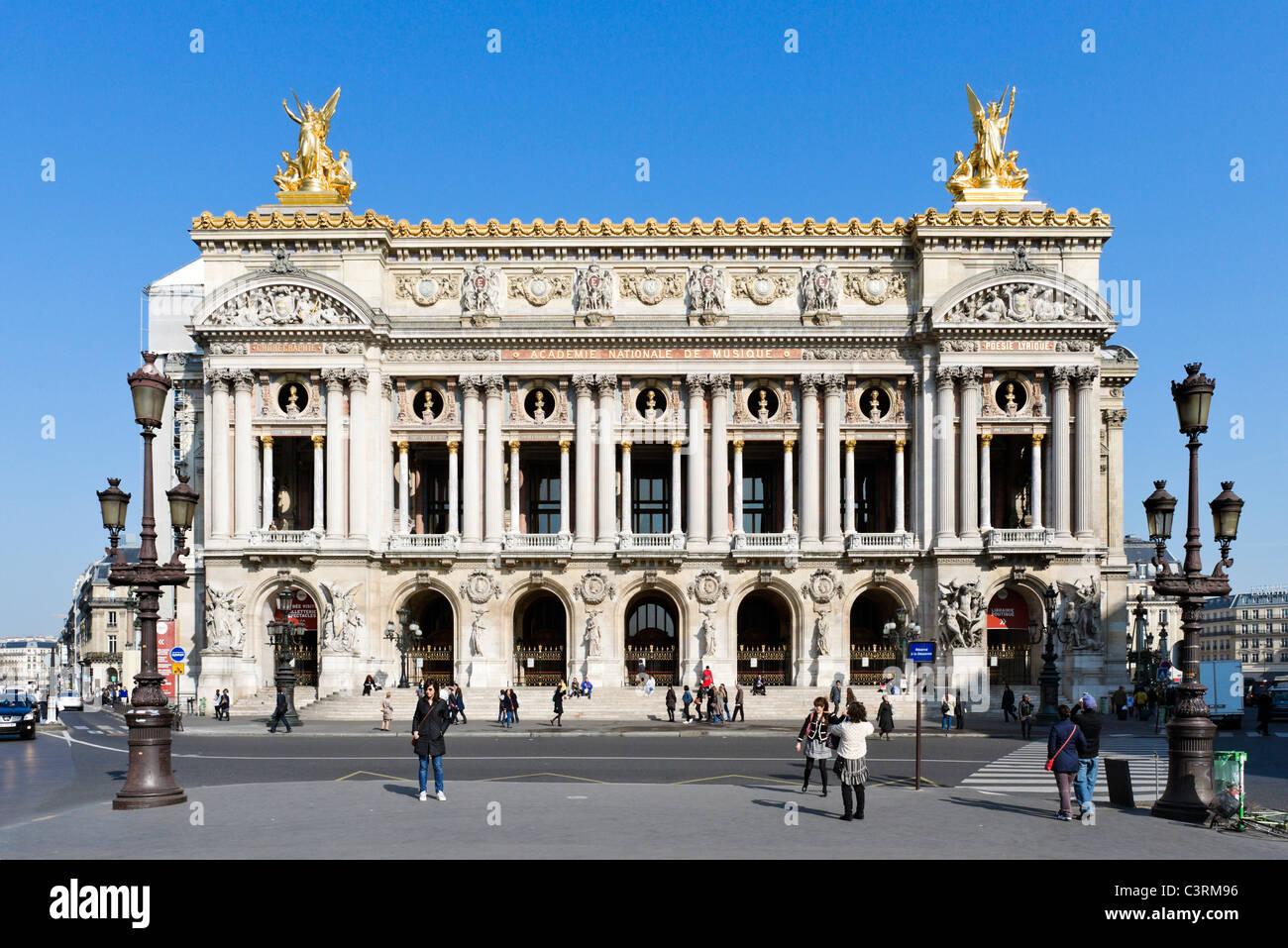 The Paris Opera (Palais Garnier), Place de l'Opera, Paris, France - Stock Image