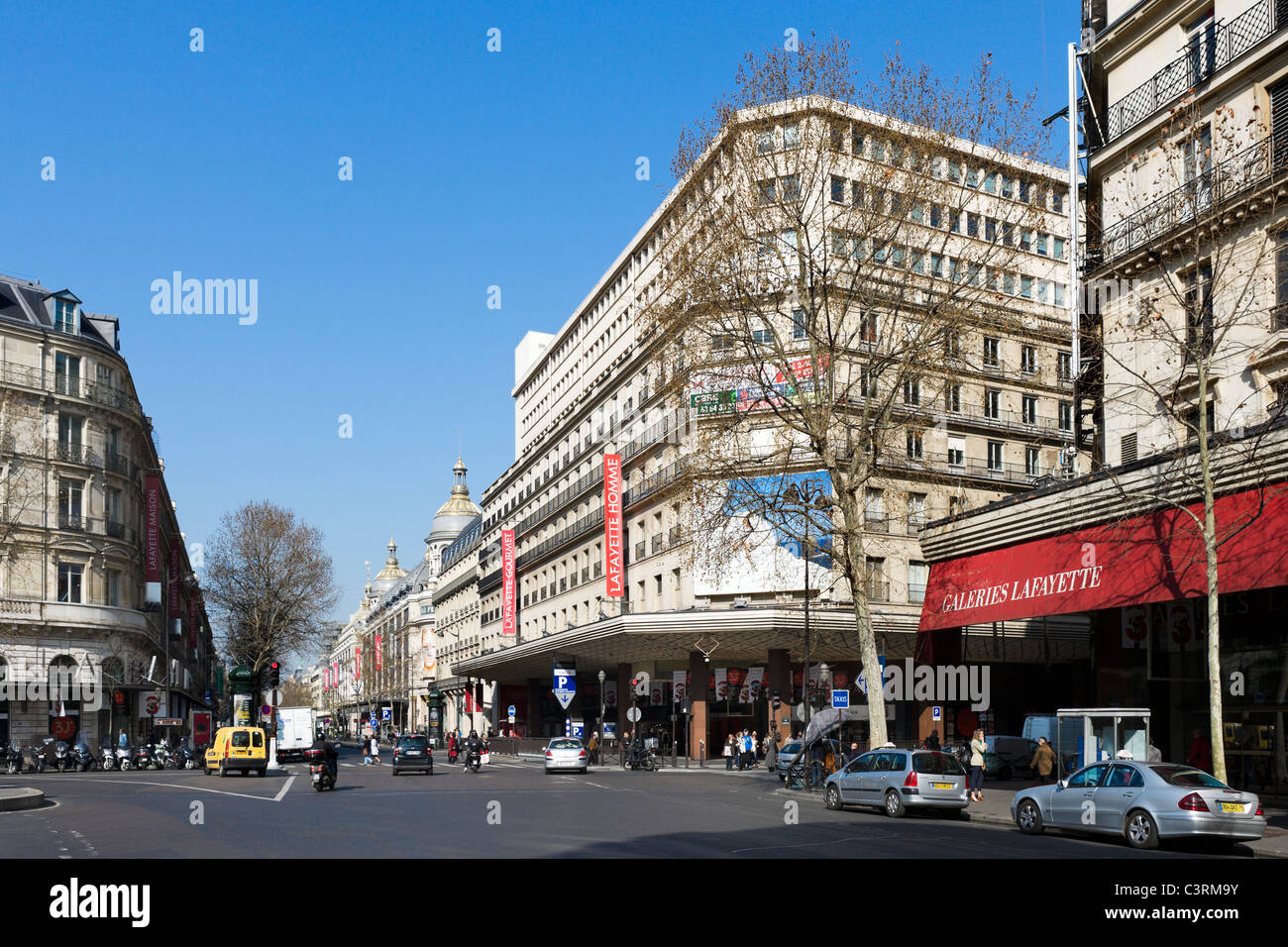 Galeries Lafayette On Boulevard Haussmann In The Centre Of The City