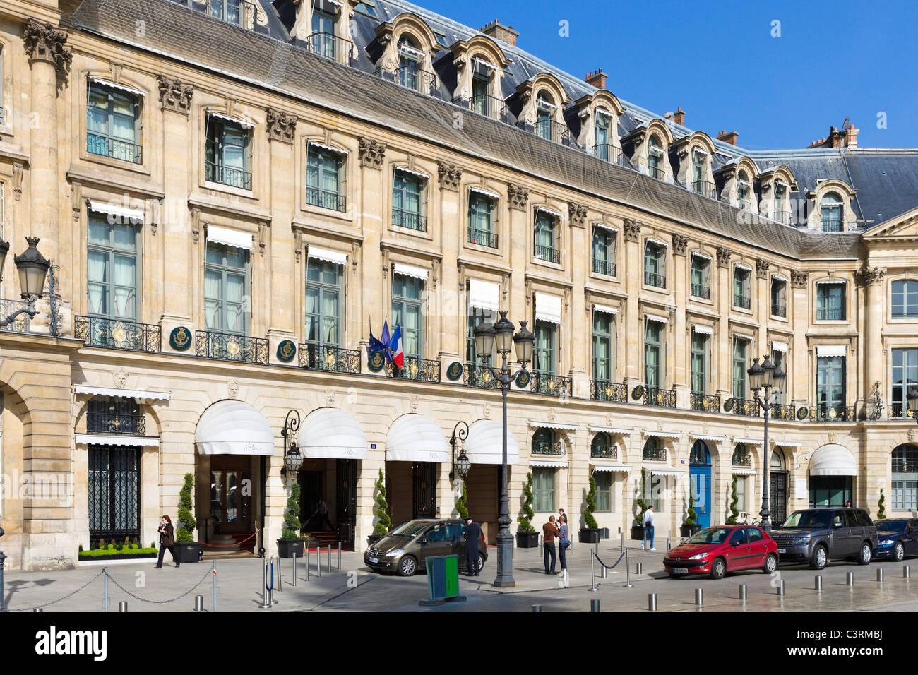 The Ritz Hotel, Place Vendome, Paris, France - Stock Image