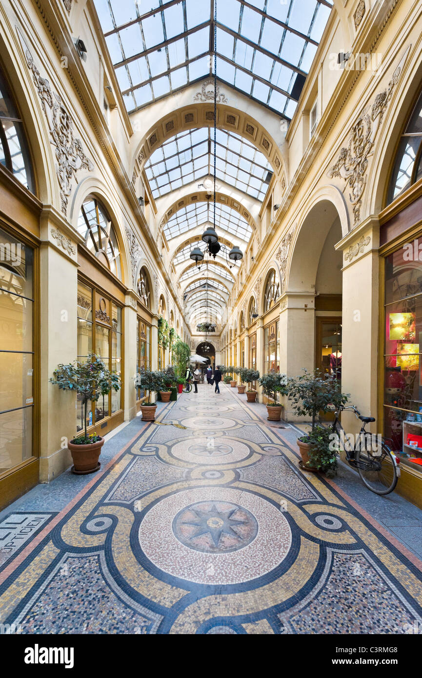 Shops in the Galerie Vivienne in the 2nd Arrondissement, Paris, France Stock Photo