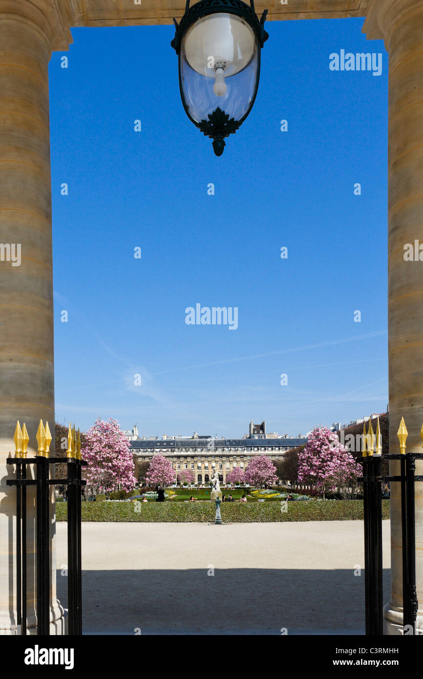 Gardens of the Palais Royal, 1st Arrondissement, Paris, France - Stock Image