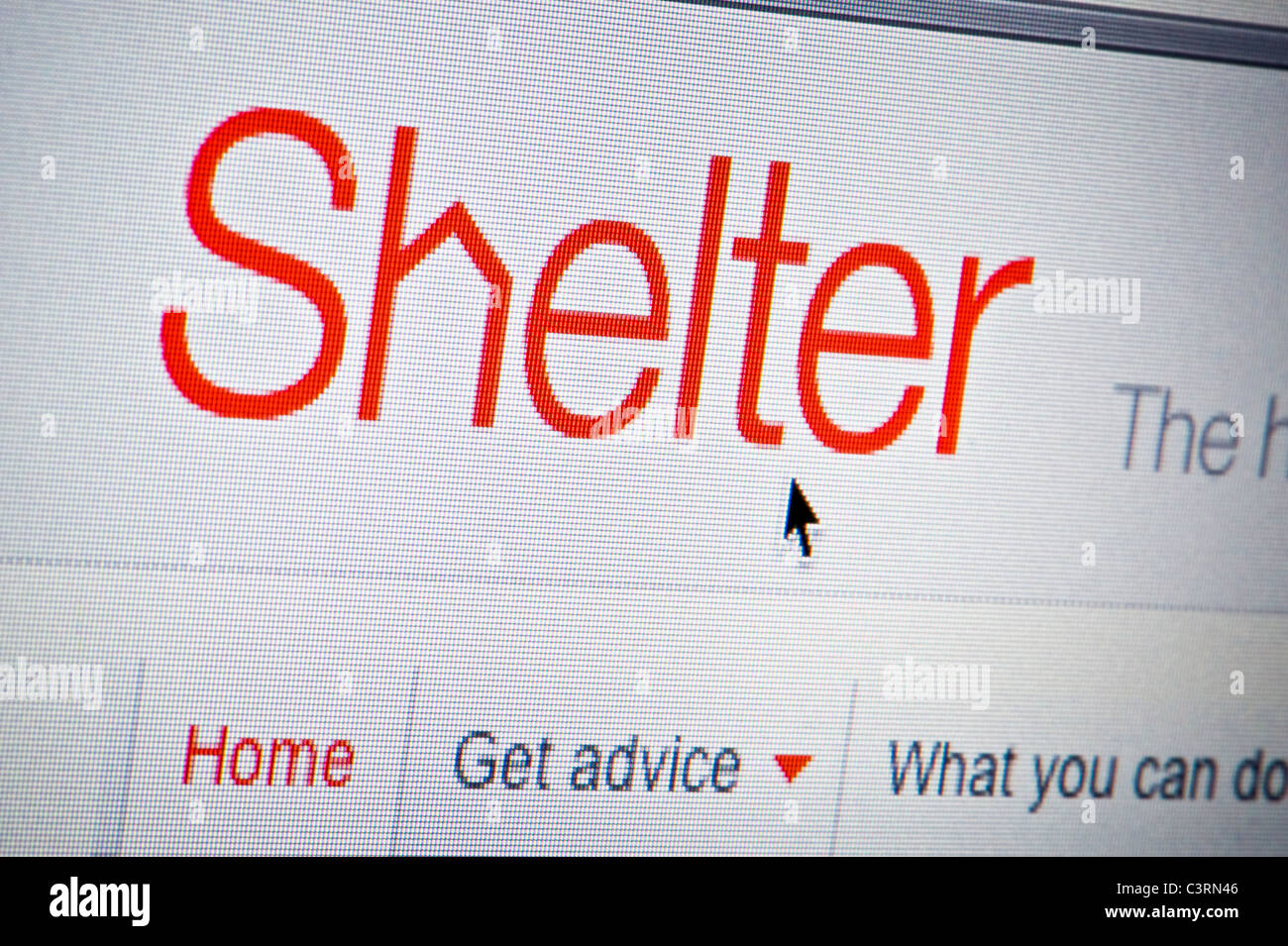 Close up of the Shelter logo as seen on its website. (Editorial use only: ­print, TV, e-book and editorial - Stock Image