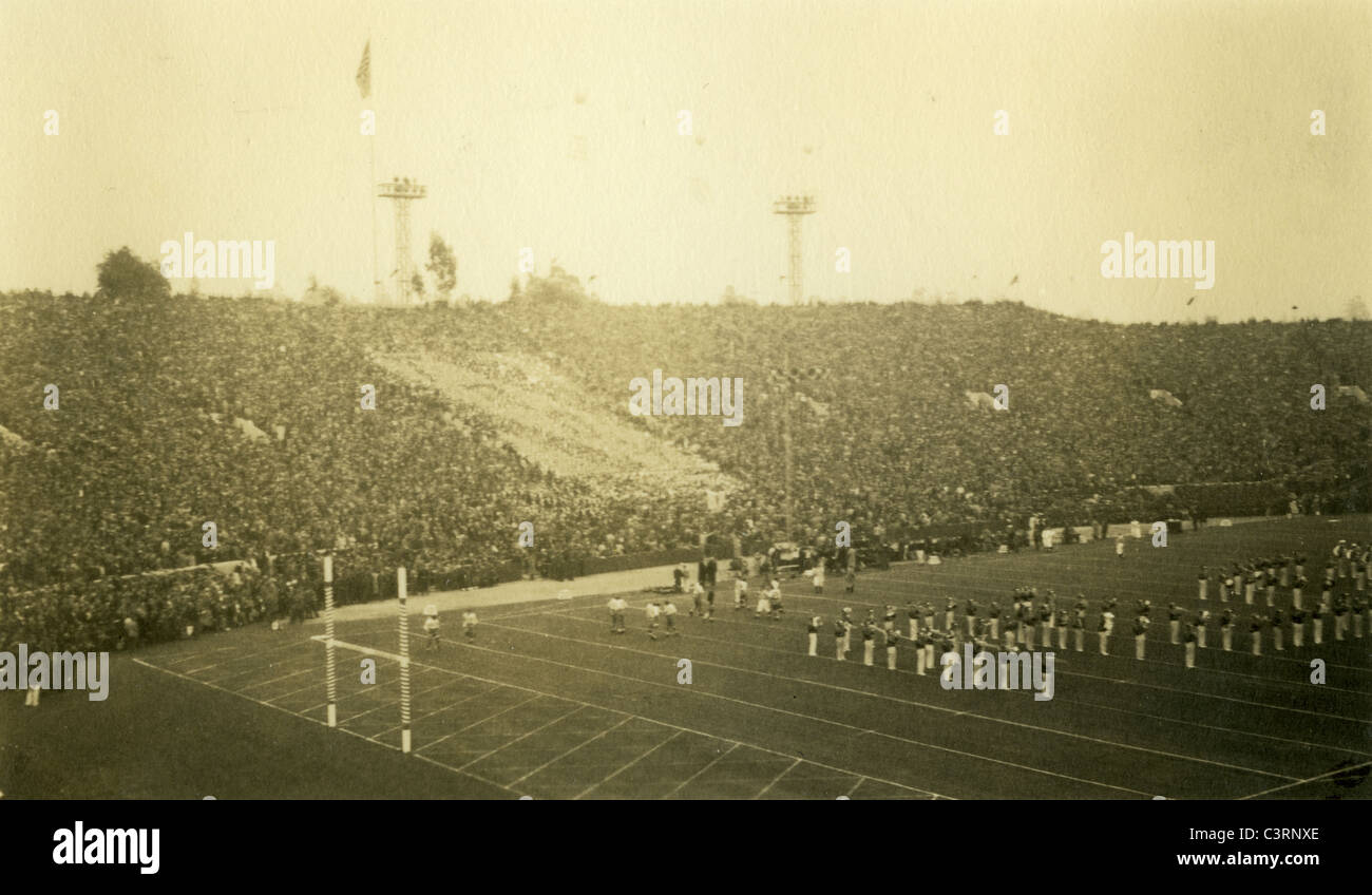 Rose Bowl January 1 1940s pasadena football game southern california sports - Stock Image