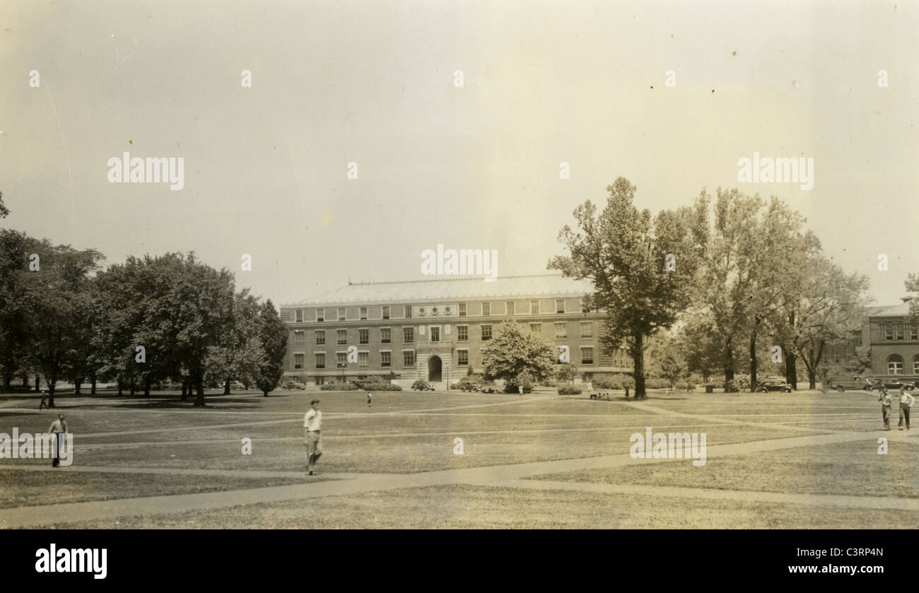view of Ohio State campus 1930s 1939 education college higher - Stock Image