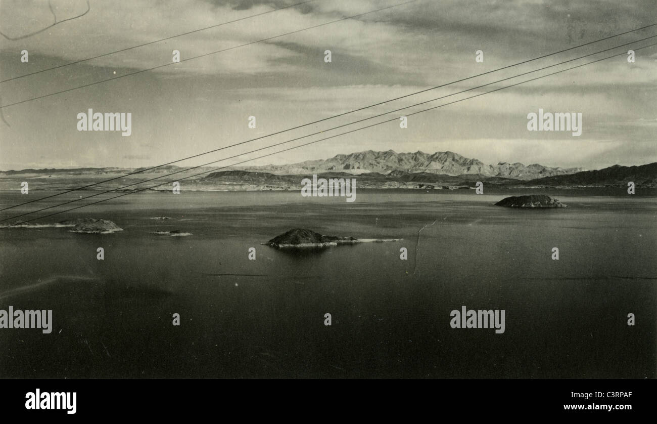 Lake Mead 1930s desert landscape - Stock Image