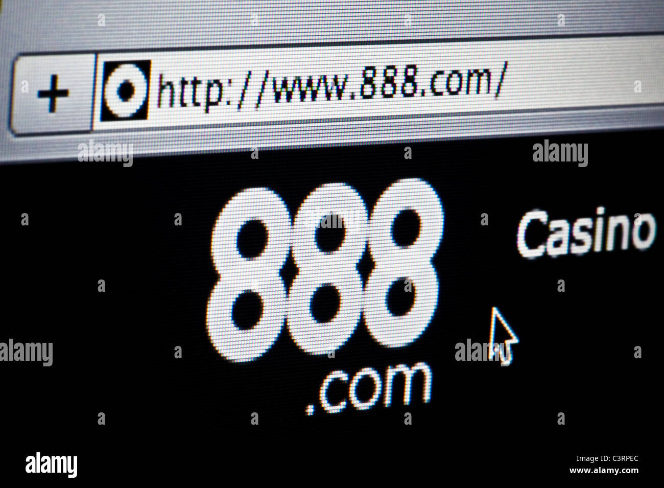 Close up of the 888 logo as seen on its website. (Editorial use only: print, TV, e-book and editorial website). - Stock Image