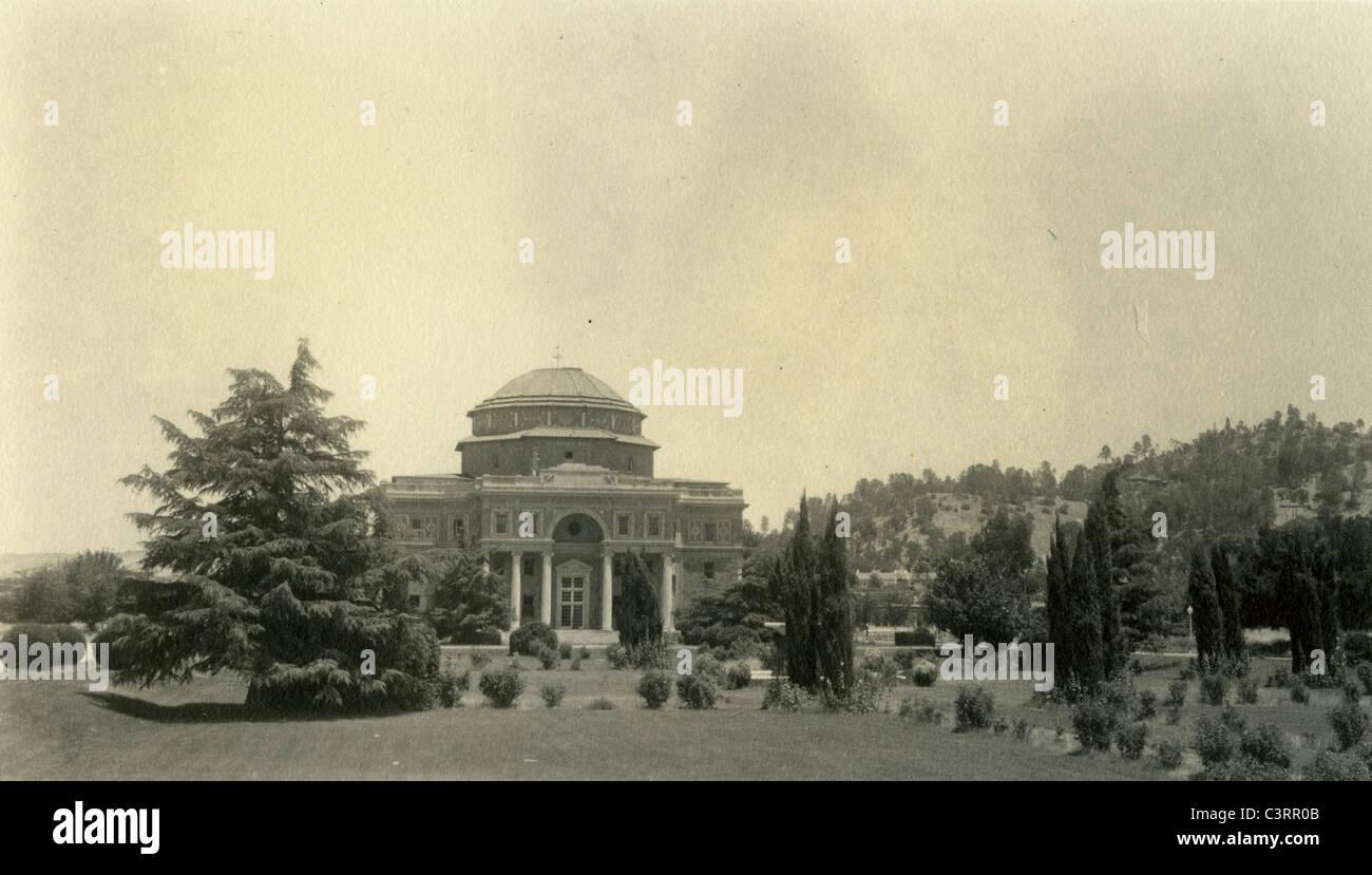 El Rolle Hall in Atascadero, June, 09, 1940. architecture california hills mountain pacific coastal range - Stock Image