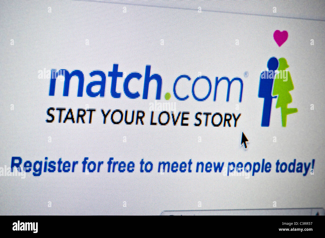 Close up of the Match.com logo as seen on its website. (Editorial use only: ­print, TV, e-book and editorial - Stock Image