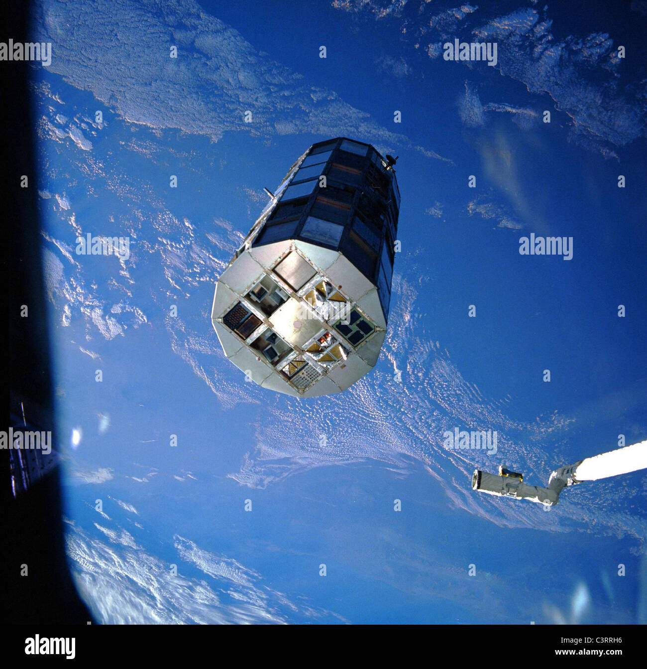 NASA's Long Duration Exposure Facility (LDEF) - Stock Image
