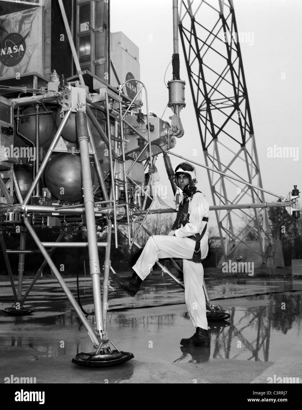 Alan Shepard At Lunar Landing Research Facility. - Stock Image