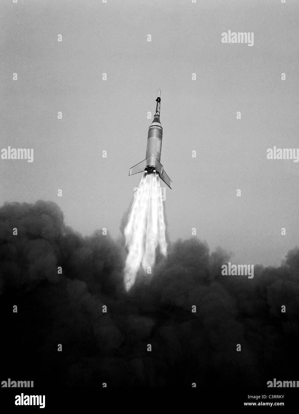 Launching of the LJ6 Little Joe on Oct. 4, 1959 - Stock Image