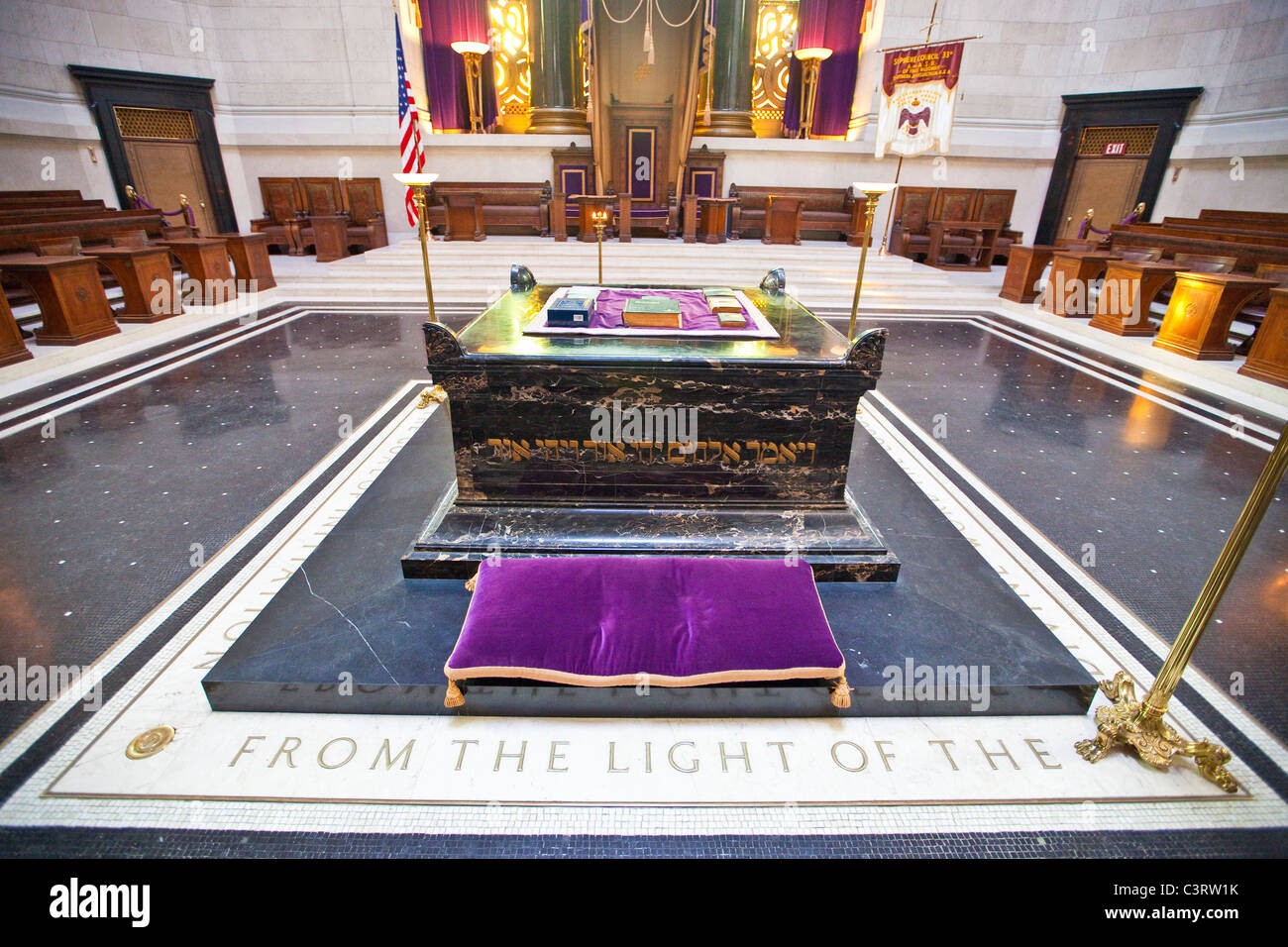 Holy books on an alter at the Scottish Rite of Freemasonry building in Washington DC - Stock Image