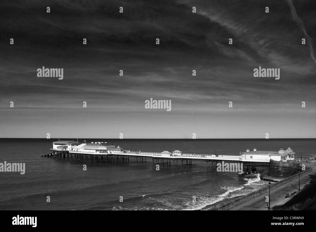 This is an image of Cromer Pier on the north Norfolk coast, England, UK. - Stock Image