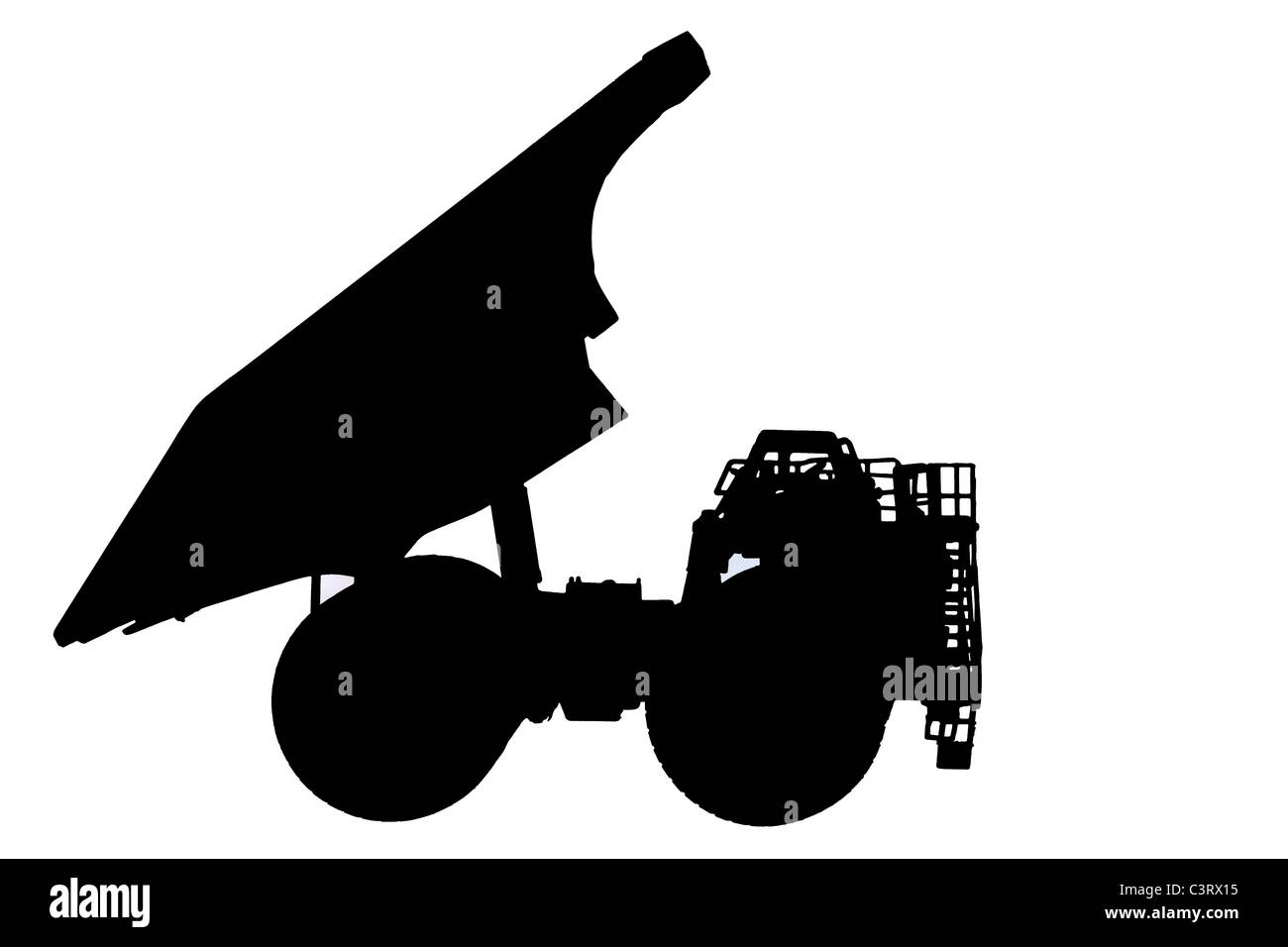 Silhouette of Caterpillar 793D Haul truck - Stock Image
