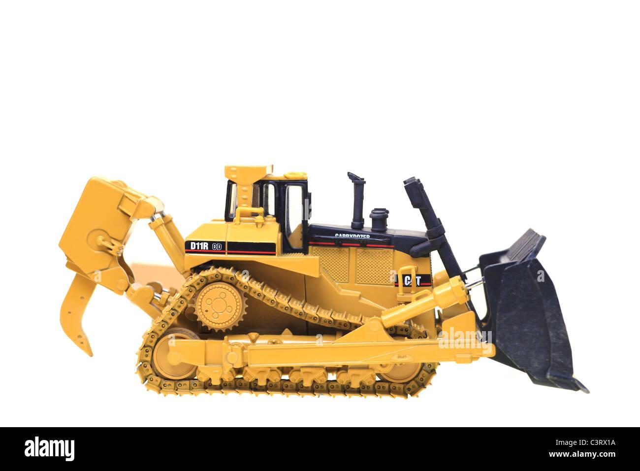 Die cast model of Caterpillar D11R Bulldozer - Stock Image