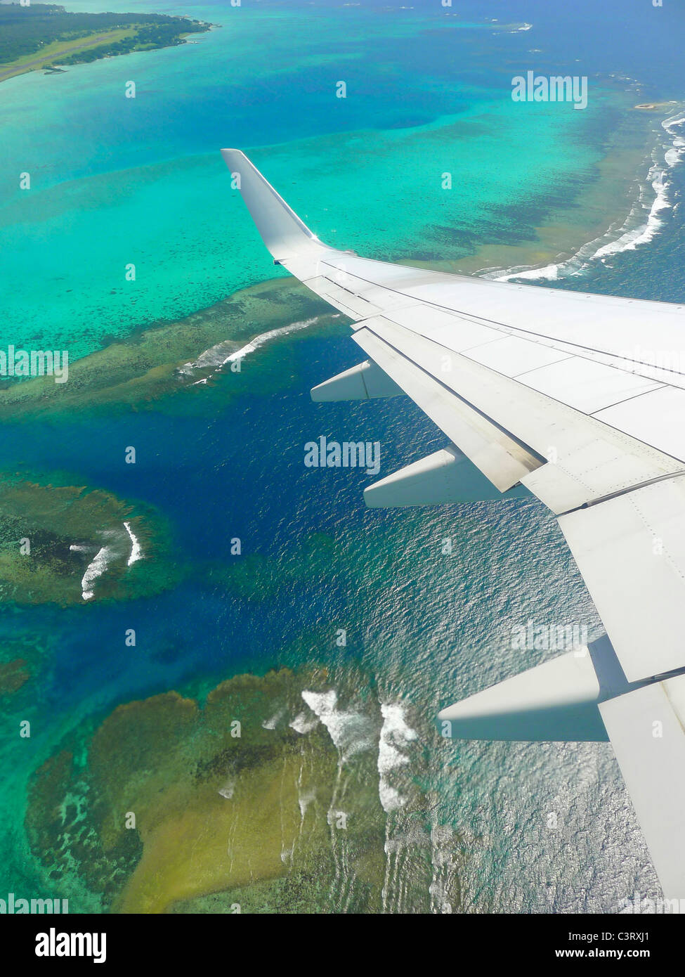 Airplane, South Pacific - Stock Image
