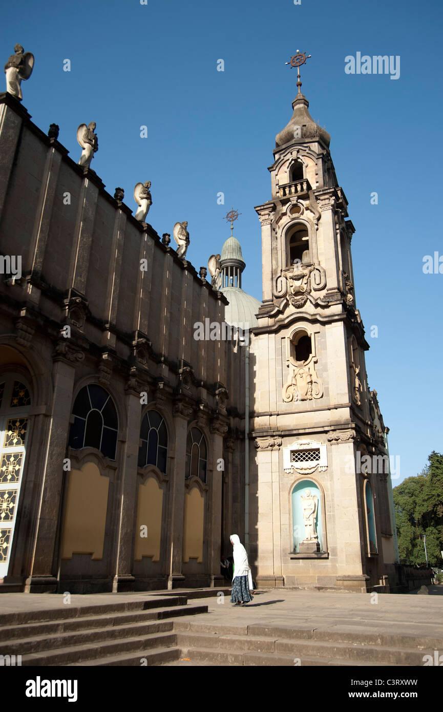 Kiddist Selassie (Holy Trinity) Cathedral, Addis Ababa, Ethiopia - Stock Image