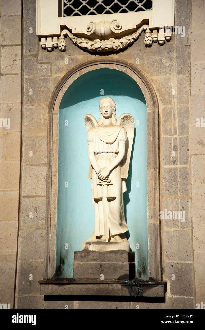 Statue at Kiddist Selassie (Holy Trinity) Cathedral, Addis Ababa, Ethiopia - Stock Image