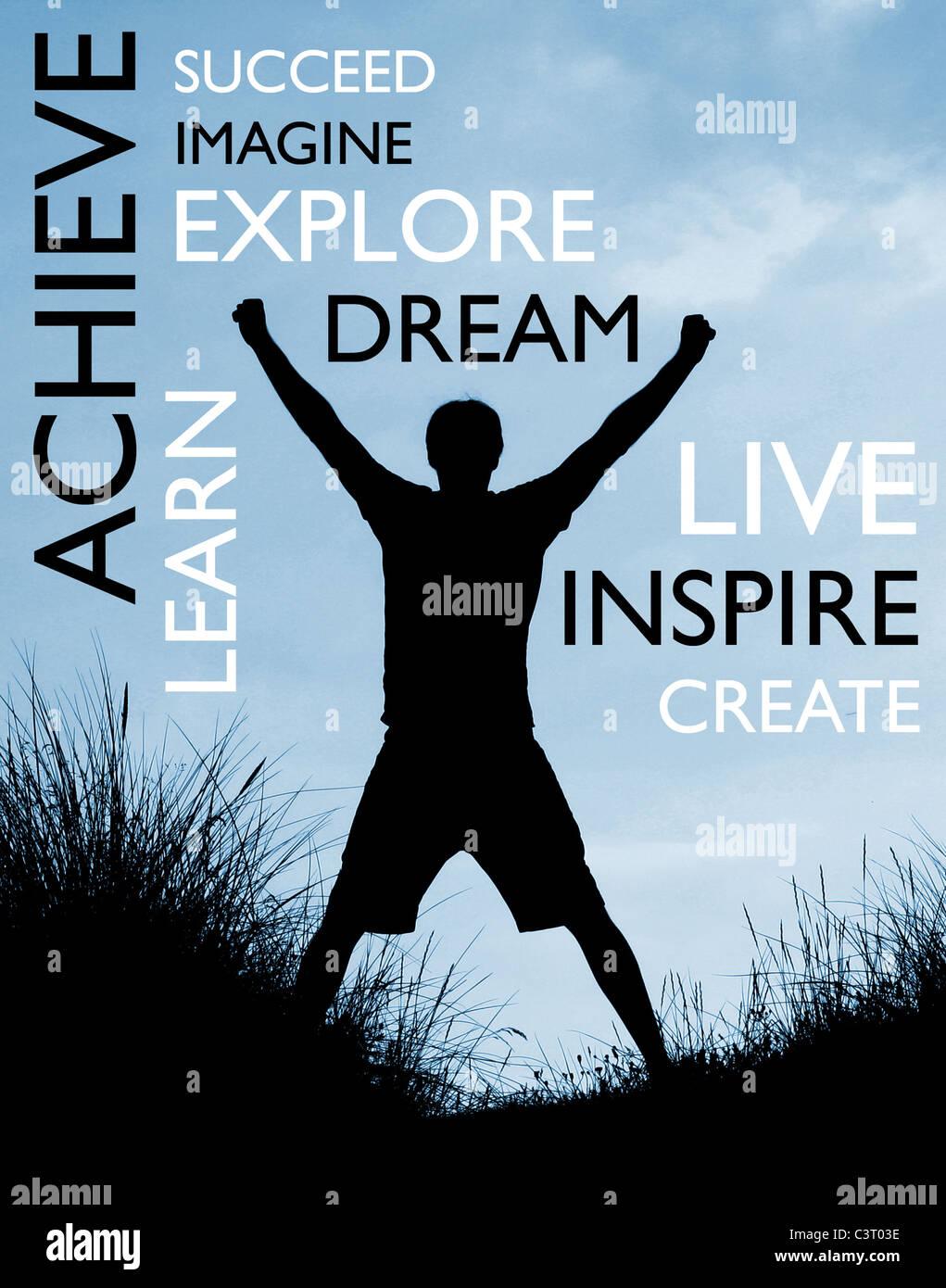 Achieve success - Stock Image