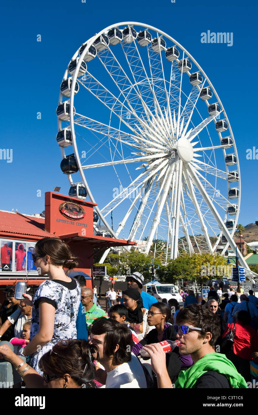 Wheel of Excellence at V&A waterfront in Cape Town South Africa - Stock Image
