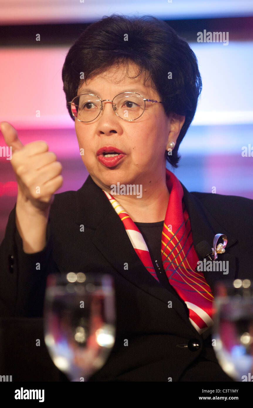 Dr Margaret Chan , Director-General of WHO speaks at a conference in Washington, DC. - Stock Image