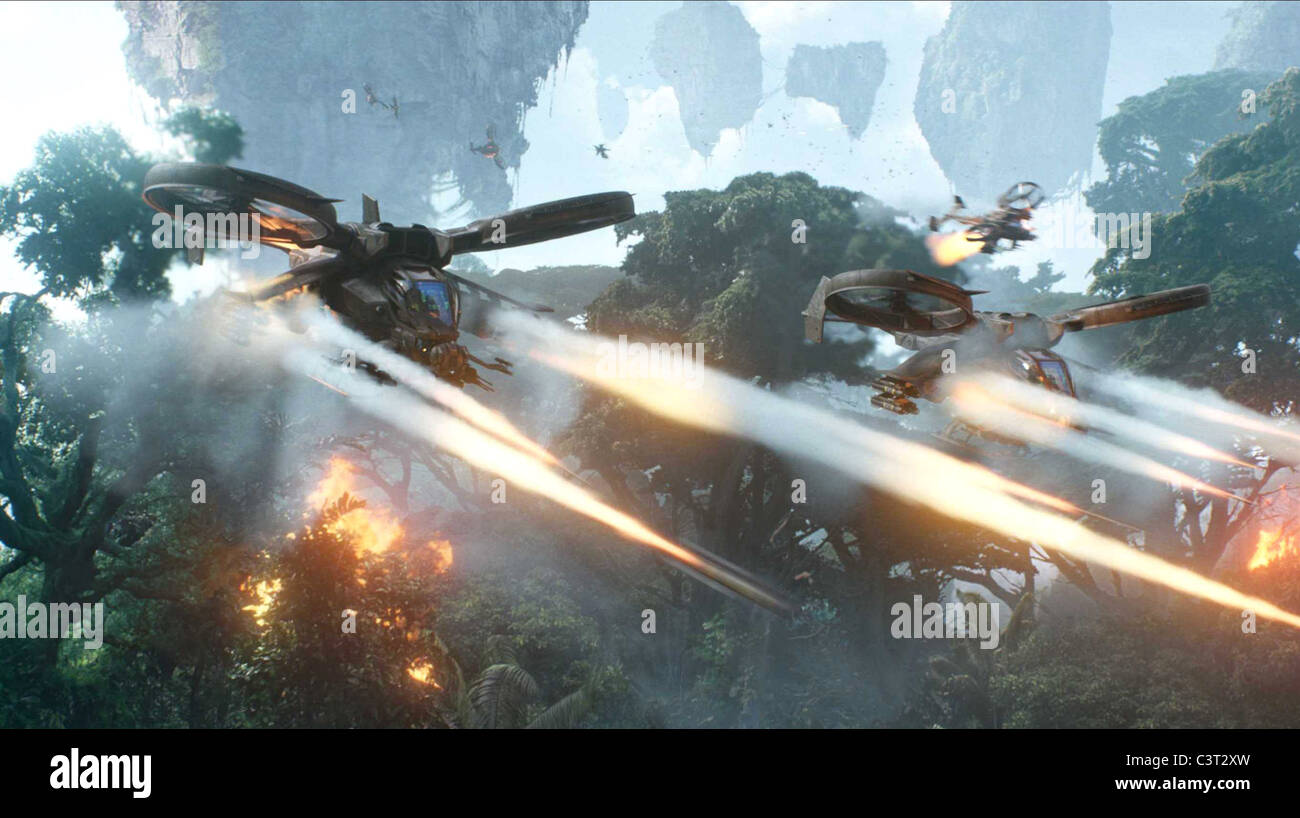 SCORPION GUNSHIPS AVATAR (2009) - Stock Image