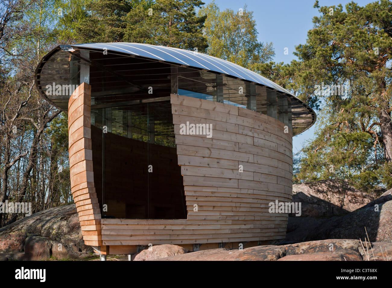 Nature inspired building in Helsinki - Stock Image