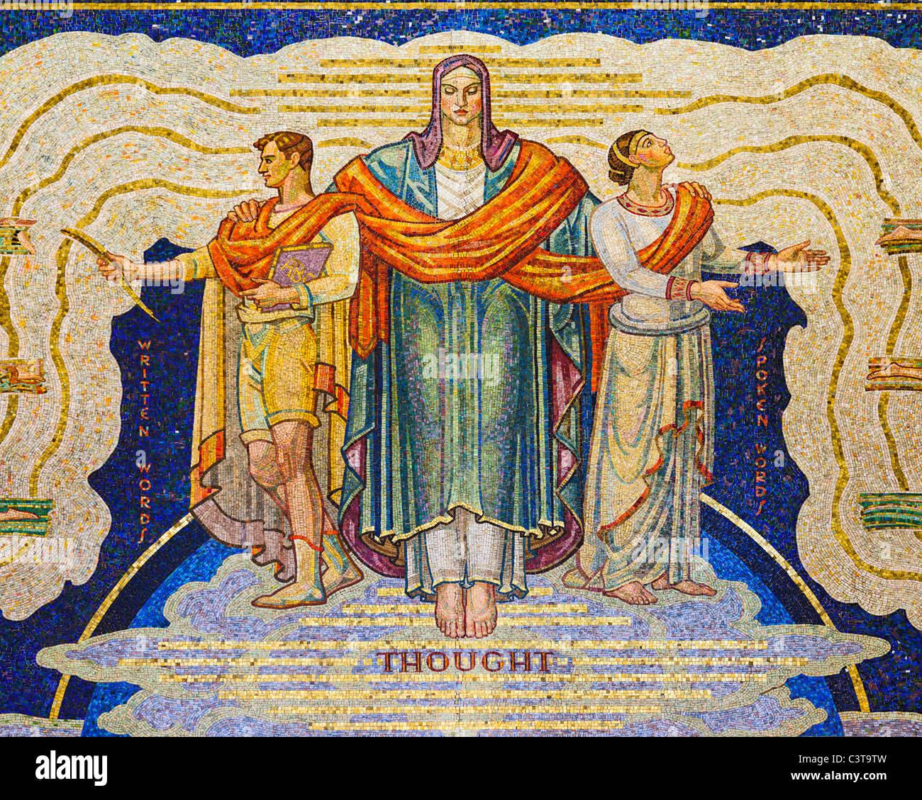 Intelligence Awakening Mankind, Mosaic - Stock Image
